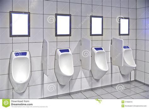 modern restroom modern restroom interior with row stock photo