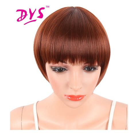 natural black short blunt cut pixie synthetic hair with deyngs short pixie cut red color straight synthetic wigs