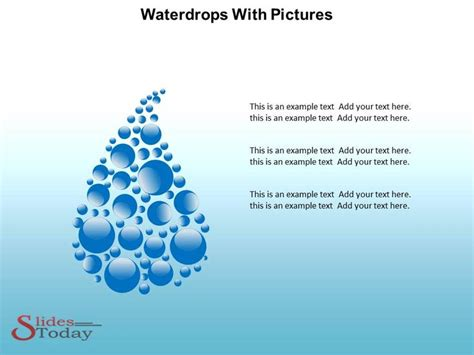 save powerpoint template as theme save water save water waterdrops powerpoint template