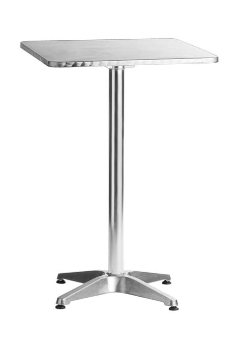 X Bar Table Aluminum 24 Quot X24 Quot Square Bar Table 42 Quot Height Tables And Bar Tables Chairs Direct Seating