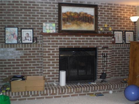 Brick Fireplaces Ideas by Diy Decor Brick Fireplace Makeover