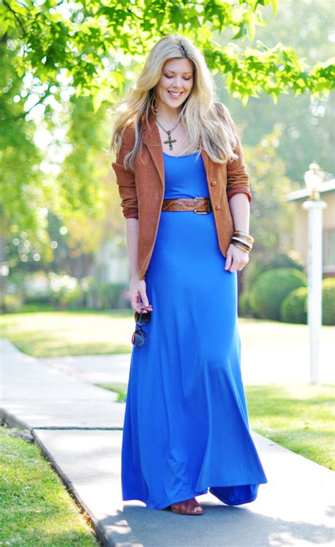 Maxi Blazer Flowery colorful maxi dresses with blazer ideas