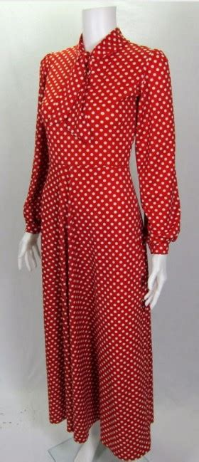 Polky Dress Ori Gamis Polka vintage 1970 and white polka dot hostess dress for sale antiques classifieds