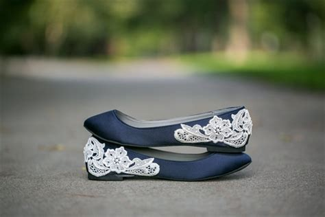 Navy Wedding Flats by Win A Pair Of Lace Wedding Flats
