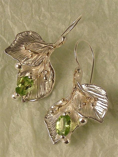 Handmade Sterling Silver Jewellery Au - one of a original handmade nature earrings with leaf