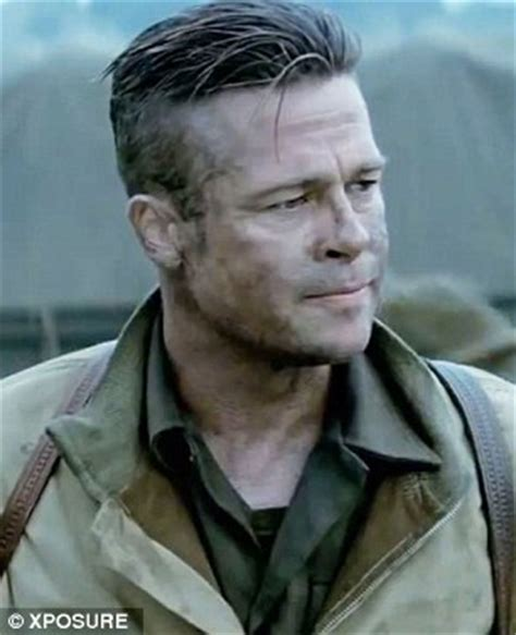 army haircut fury brad pitt fury haircut danasrho top beauty pinterest