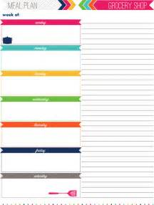 Meal Planner And Shopping List Template Cute Weekly Meal Planner Template Galleryhip Com The