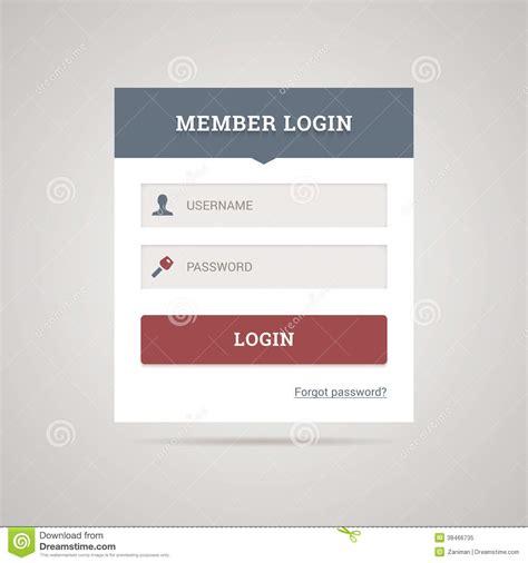 mobile web login flat login form stock vector image of input clean