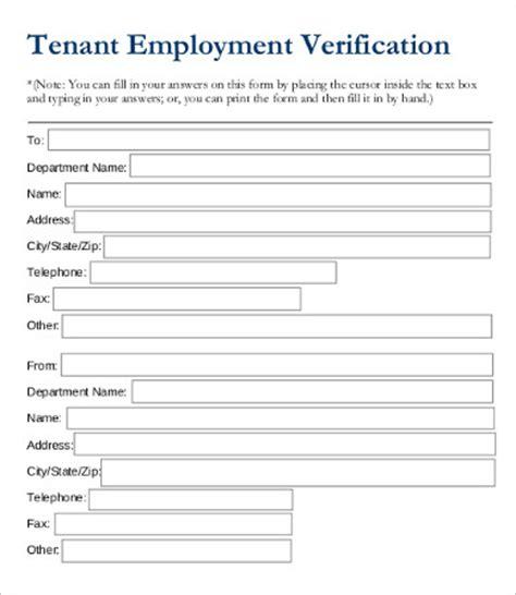 free employment verification form template employment verification form template 5 free pdf