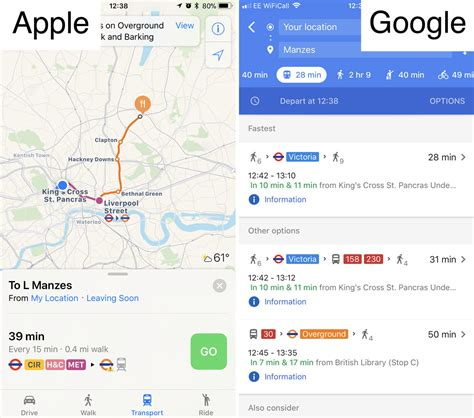 apple google does apple maps use data apple maps no alternative