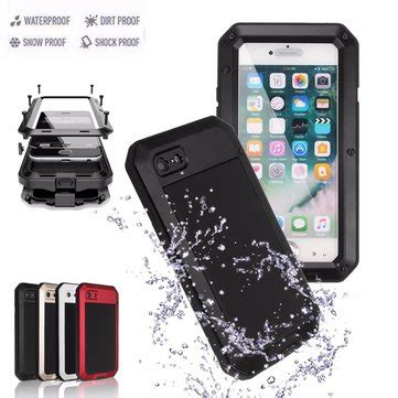 r iphone 8 plus waterproof aluminium gel pe shockproof waterproof for iphone 7