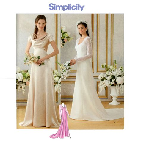 Wedding Dress Pattern Simplicity 1909 Bust 30 To 36 By