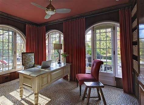 office drapes 20 home offices that turn to red for energy and excitement