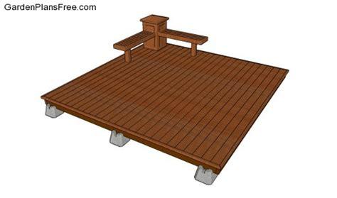 patio deck plans free deck plans free