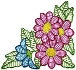 Gardens Inc 3 Flower Patterns Embroidery Designs 43 Fancy Flower Designs