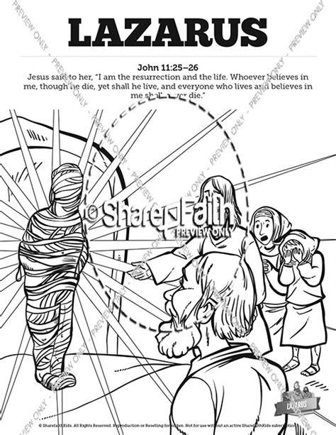 coloring pages jesus raises lazarus 11 lazarus sunday school coloring pages sunday