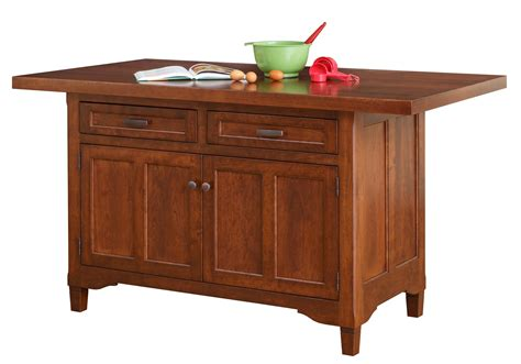 solid cherry wood kitchen island