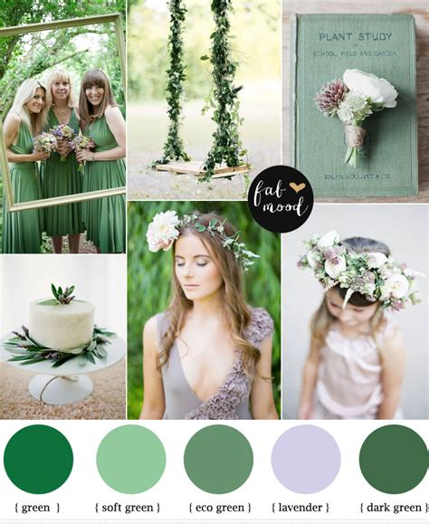 green wedding colors green lavender color scheme woodland wedding