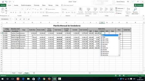 calculadora para sueldos y salarios 2016 como hacer una planilla mensual en excel youtube
