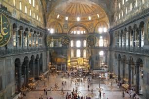santa sofia istanbul interno interno della basilica di santa sofia