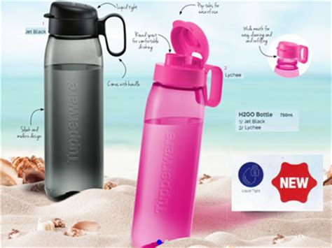 Tupperware H2go Bottle qoo10 tupperware h2go bottle 750ml 2 colours