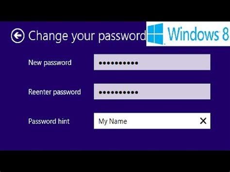 windows reset password vs change password windows 8 how to change your windows 8 and microsoft