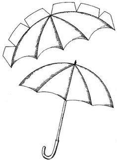 blank umbrella raindrops template clipart best
