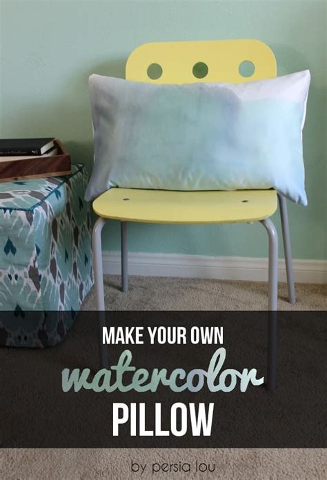 make your own watercolor pillow lou