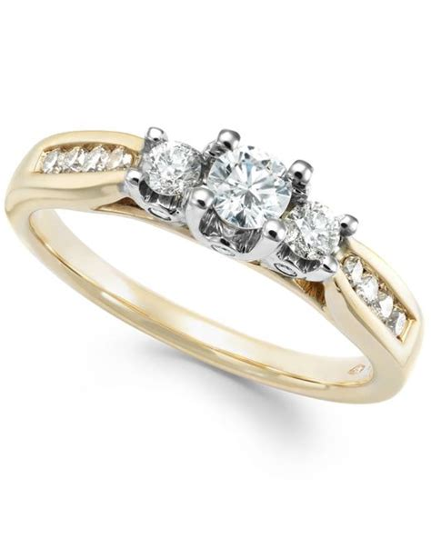 macy s three ring in 14k gold white gold or
