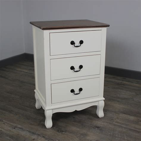 White Bedside Table With Wood Top Furniture Bundle Console Table Chest Drawers Bedside White