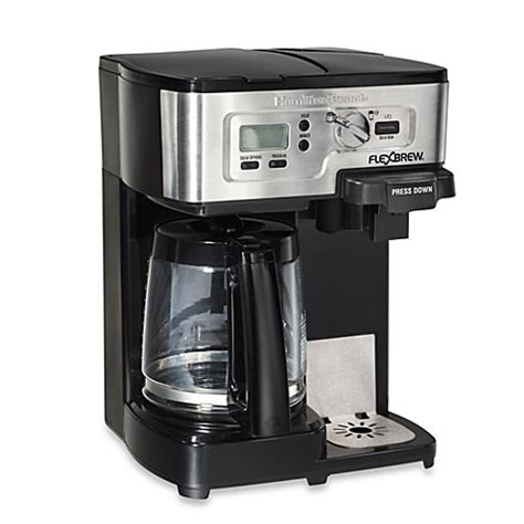 bed bath coffee maker hamilton beach 174 flexbrew 174 2 way coffee maker bed bath