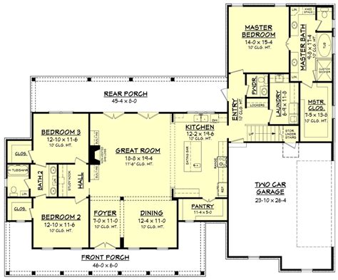 farmhouse floorplans farmhouse style house plan 3 beds 2 50 baths 2282 sq ft