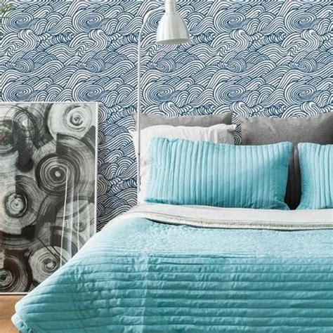street prints solstice wallpaper mare wave   navy