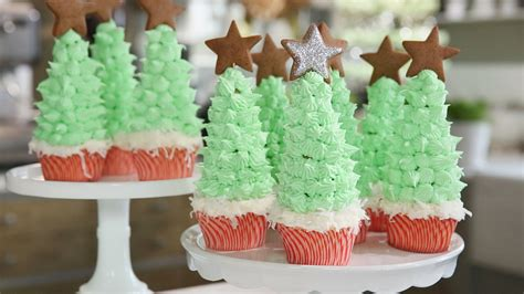 christmas tree cupcakes recipe video martha stewart