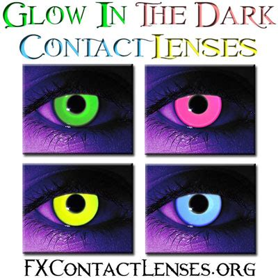 image: glow in the dark contacts contacts