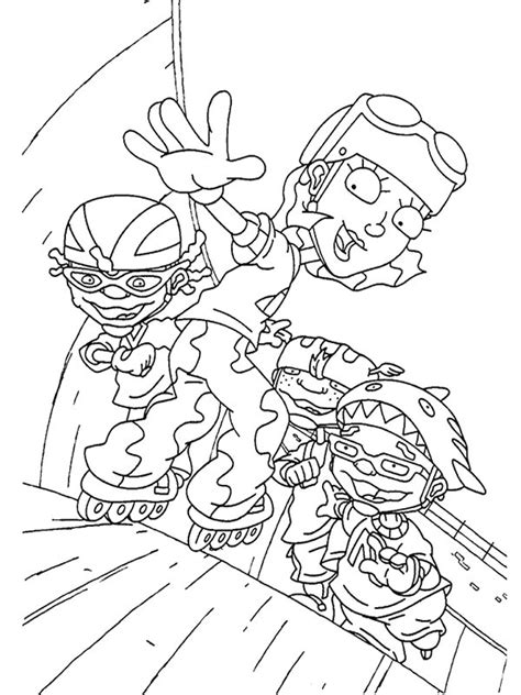coloring pages rocket power kids n fun com rocket power