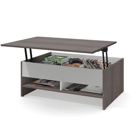 36 Inch Lift Top Coffee Table by Bestar Small Space 37 Inch Lift Top Storage Coffee Table