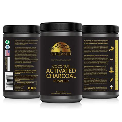 certified food grade organic coconut activated charcoal
