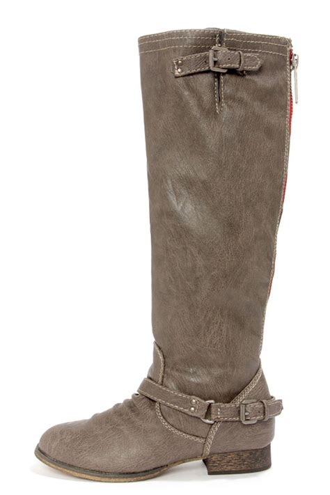 taupe boots knee high boots boots 46 00