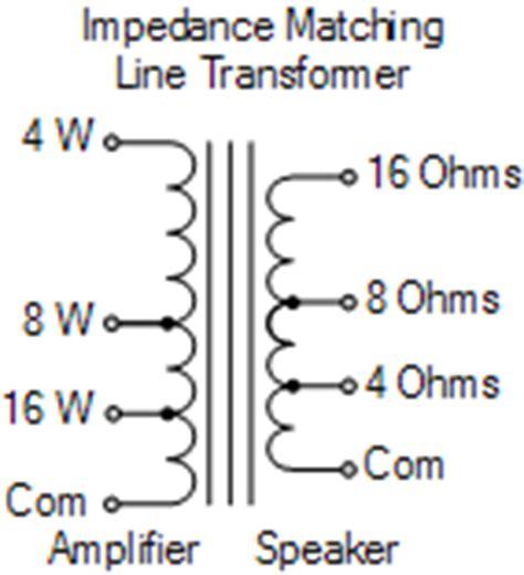 transformer impedance matching formula audio transformer and impedance matching transformer
