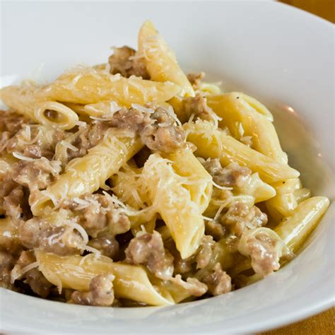 pasta sausage penne with sausage and cream the italian chef