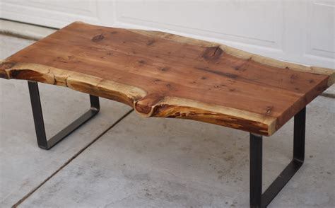 Redwood Coffee Table Arbor Exchange Reclaimed Wood Furniture Redwood Slab Coffee Table