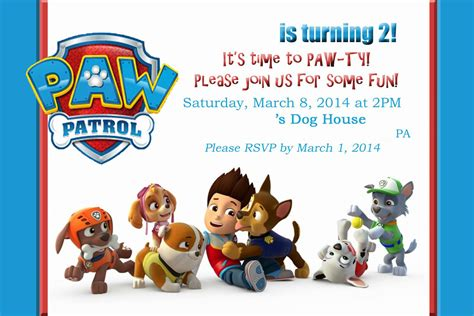 paw patrol birthday invitations paw patrol birthday