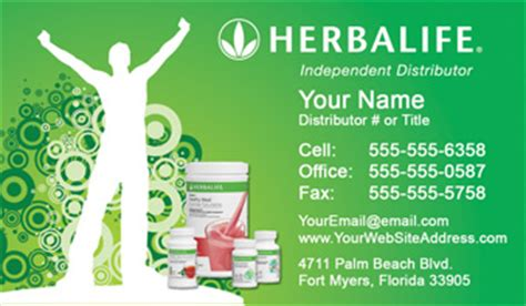 Herbalife Business Cards Free Shipping And Design No Additional Fees Apply Herbalife Leaflet Templates