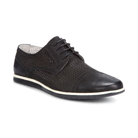 kenneth cole oxford shoes kenneth cole cup of joe captoe oxfords in black for lyst