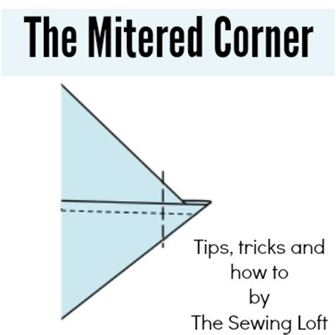 how to make mitered corners the sewing loft
