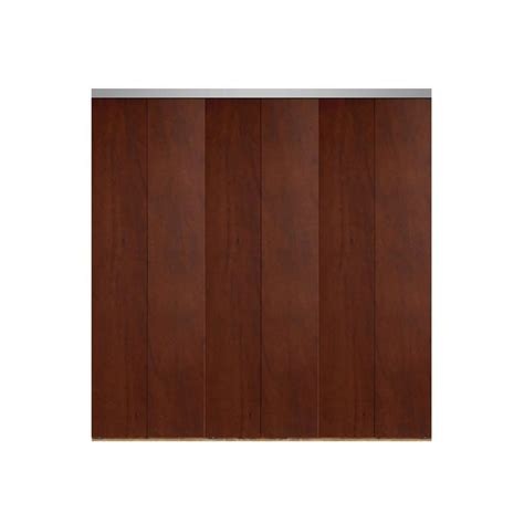 90 Inch Bifold Closet Doors Impact Plus 90 In X 84 In Smooth Flush Cherry Solid Mdf Interior Closet Bi Fold Door With