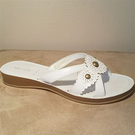 cabin creek sandals cabin creek nwot white sandal with heel from