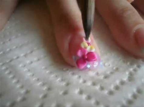 imagenes d uñas acrilicas en 3d 3d flower nails u 241 as con flores en 3d youtube