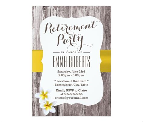 retirement flyer retirement party invitation template 36